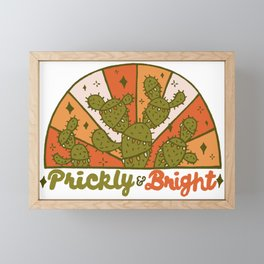 Prickly and Bright Framed Mini Art Print