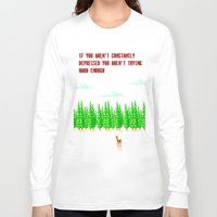 depression Long Sleeve T-shirts featuring A Constant State of Depression by ThatLittleDemon