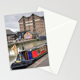 Gloucester Docks Narrowboat Stationery Cards