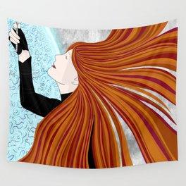 Crazy Hair Portal Girl Wall Tapestry
