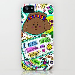 JB the Sporty Chocolate Poodle iPhone Case