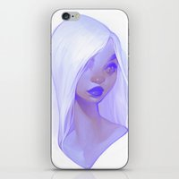 loish iPhone & iPod Skins featuring visage - lilac by loish
