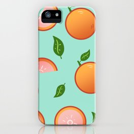 Citrus-Teal iPhone Case