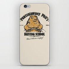Punxsutawney Phil's Driving School iPhone Skin
