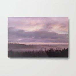 Pink Morning Mist In Sweden Metal Print