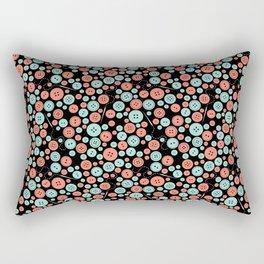 Sew Many Buttons Rectangular Pillow
