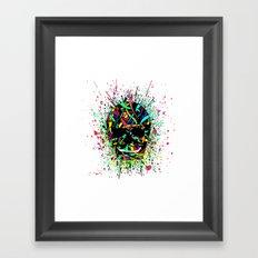 COLOUR SKULL  Framed Art Print
