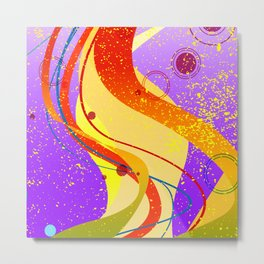 Jazz Fleck Background Metal Print
