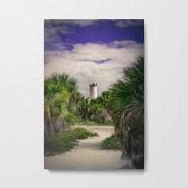 Egmont Key Lighthouse Metal Print