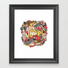 February Brain Dump Framed Art Print