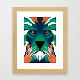 Aurora Lion Framed Art Print