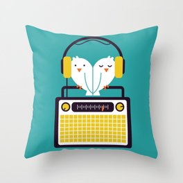 Radio Mode Love Throw Pillow