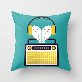 Radio Mode Love Throw Pillow