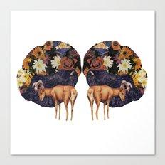 Double deer Canvas Print