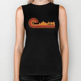 Retro Atlantic City New Jersey Skyline Biker Tank