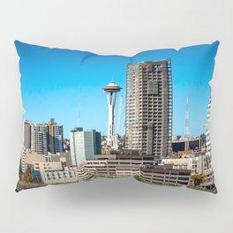 Seattle Space Needle and Aquarium Pillow Sham