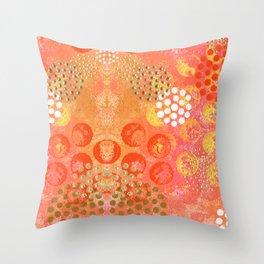 Orange Fizz Throw Pillow