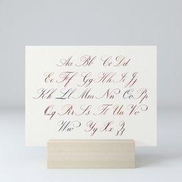 Hand Written Copperplate Alphabet Mini Art Print