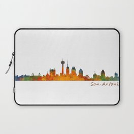 San Antonio City Skyline Hq v1 Laptop Sleeve