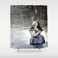 indigo Shower Curtains featuring Indigo by Terrel