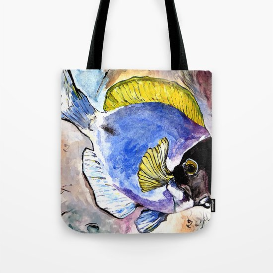 fish with yellow fin Tote Bag