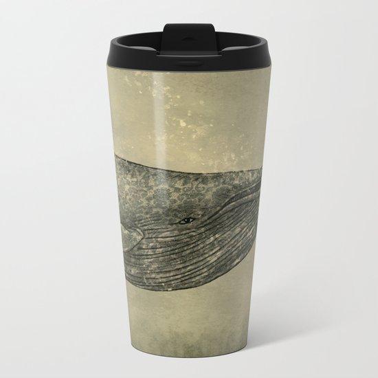 Damask Whale  Metal Travel Mug