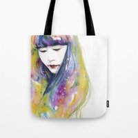 lime Tote Bags featuring lime nights by agnes-cecile