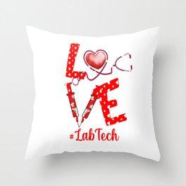 LOVE LabTech apparel nurse gifts for women Throw Pillow