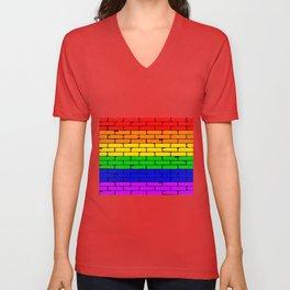 Transexual Rainbow Wall Unisex V-Neck