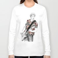 coconutwishes Long Sleeve T-shirts featuring Floral Niall by Coconut Wishes