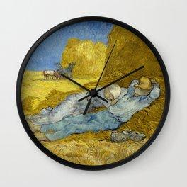 Vincent Van Gogh - Noon, Rest from work / Siesta Wall Clock