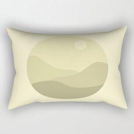 Minimal Meadow Day Rectangular Pillow