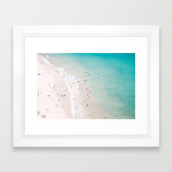 beach - summer love II Framed Art Print
