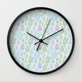 Drop of herb Wall Clock