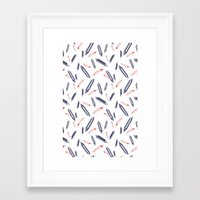 crystals Framed Art Prints featuring Crystals by Станислава Коробкова