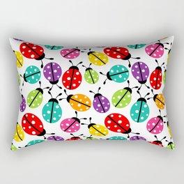 Lots of Crayon Colored Ladybugs Rectangular Pillow