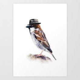 Mr. Sparrow Art Print