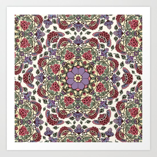 Deco Floral Art Print