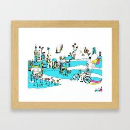 PING PONG SPRING Framed Art Print