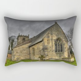 12th Century Church, England Rectangular Pillow