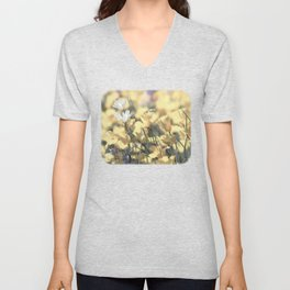 Yellow Poppy Wildflower Art by Murray Bolesta Unisex V-Neck