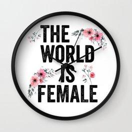 The World is Female - Feminist Wall Clock