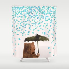 Rain rain go away Shower Curtain