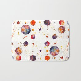 watercolor bubbles Bath Mat