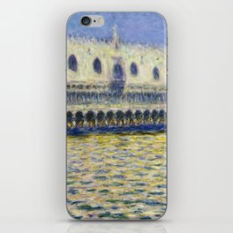 The Palazzo Ducale by Claude Monet iPhone Skin