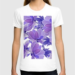 Modern hand painted lilac lavender watercolor floral T-shirt