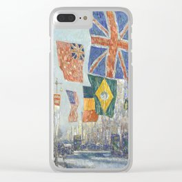 Avenue of the Allies, Great Britain, 1918 by Childe Hassam Clear iPhone Case