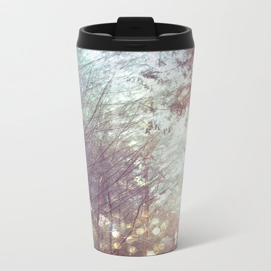 Magical Firefly Forest Metal Travel Mug