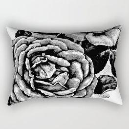 Two Vintage Roses Rectangular Pillow