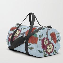 Flowering tree branch Duffle Bag